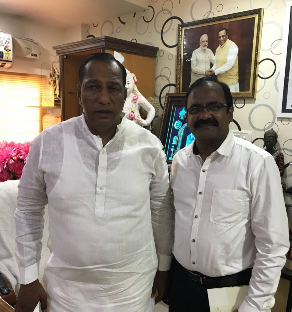 With honourable M.P, Ch.Malla Reddy Garu